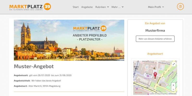 Marktplatz39 - Angebot prüfen