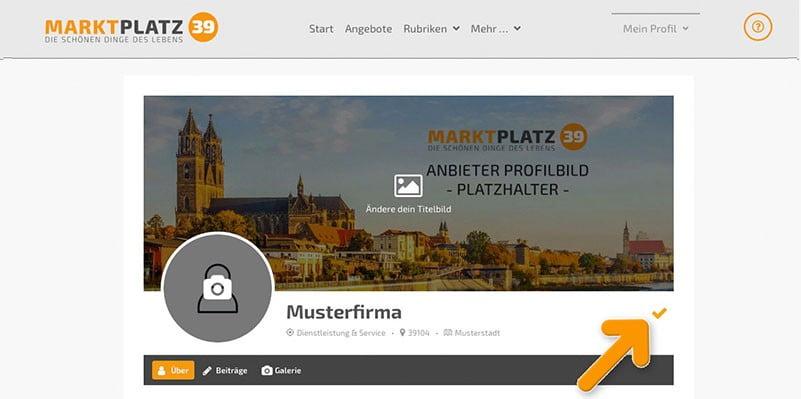 Marktplatz39 - Profiländerungen bestätigen