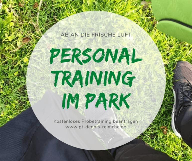 Probetraining Personal Training im Park